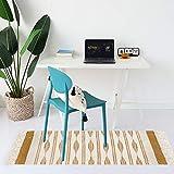 U'Artlines Teppiche aus Baumwolle Maschinenwaschbare mit Quaste Gewebte Baumwolle Wurf Teppiche Läufer für Küche, Wohnzimmer, Schlafzimmer, Waschküche, Eingangsbereich(60 * 130 Gelb) - 5