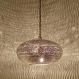 Orientalische Lampe marokkanische Hängelampe Gizeh D28 cm Silber mit E14 Fassung | Kunsthandwerk &...