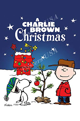 A Charlie Brown Christmas Movie Gift Poster Merry Christmas Wall Funny Gift Poster Art Poster - No Frame(24 x 36)