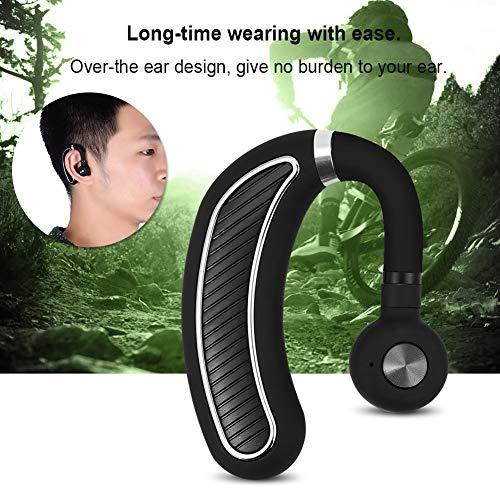 Socobeta 70 días reducción de ruido HD micrófono Bluetooth 4.1 inalámbrico HD micrófono impermeable diseño con reducción de ruido ideal para deportes y uso diario