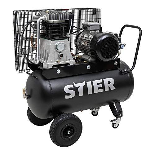 STIER Kompressor PKT 980-10-90, 10 bar, Druckluftkompressor, Werkstattkompressor, Druckluft-Werkzeug, Luftdruck