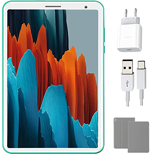 4G Tablet per Bambini with WiFi IPS 8 Pollici, Android 10.0 3 GB RAM 32 GB Rom  128GB Bluetooth Tablet PC in Offerta Quad-Core 5000mAh con Kid-Proof Custodia, Google Play e Gioco Educativo (E8, verde)