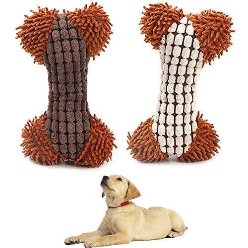 MICHETT Hundespielzeug Quietschspielzeug für Hunde Plüsch-Hunde Pielzeug Interaktives Spielzeug für kleine und mittelgroße Hunde Weiches Kauspielzeug - Das als Hundegeschenk Verwendet Werden Kann