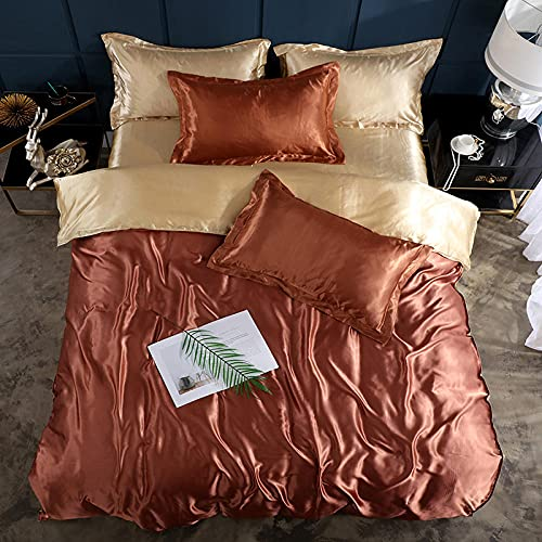 christmas king size duvet cover sets,Summer is set of ice silk four-piece bedding-O_1.5M bed (4 pieces)