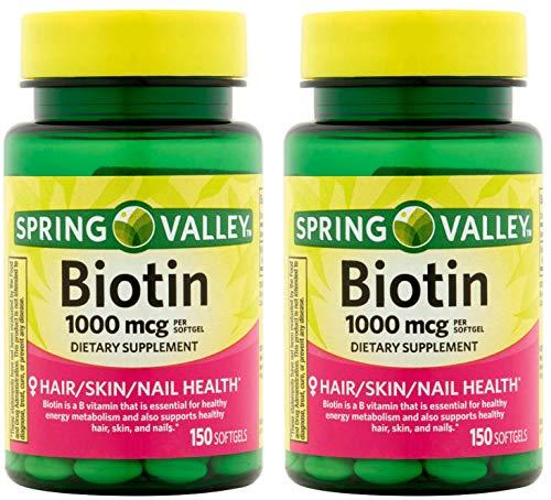 Spring Valley Biotin 1000 Mcg 300 Softgels
