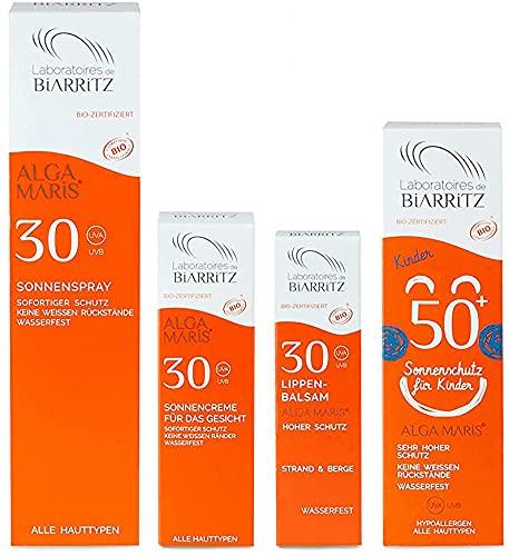 Laboratoires de Biarritz Family Maxi Set   Spray solare LSF30 100ml, Crema solare per bambini LSF50 100ml   Crema viso LSF30 50ml   Balsamo per labbra LSF30 15ml   con protezione immediata
