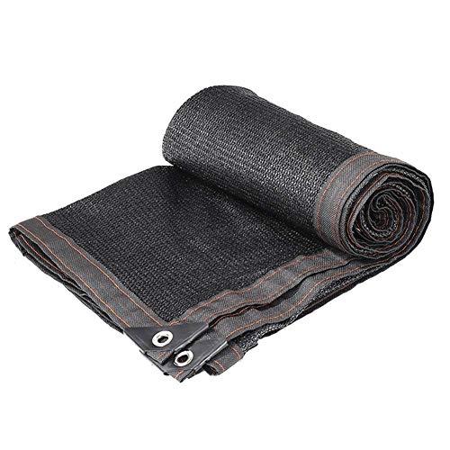 SZ JiAOJIAO luifel, 85% zonwering mesh, ademend, met oogjes, voor tuinplanten, patio, buitengebruik (kleur: zwart, maat: 2 x 4 m)