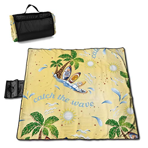 Fantastic Prices! LDSWIMMING Picnic Mat 57 X 59inches Hammer Shark Sand Proof Mat Camping Hiking Fes...