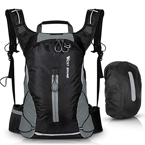 Waterproof Ultralight Bike Rucksack 16L,Cycling Breathable Daypack Bags for Daily Commutes Mountain Bike Hydration Backpack, Easter Gifts for Men Women Camping ,Trekking ,Climbing (with Rain Cover)