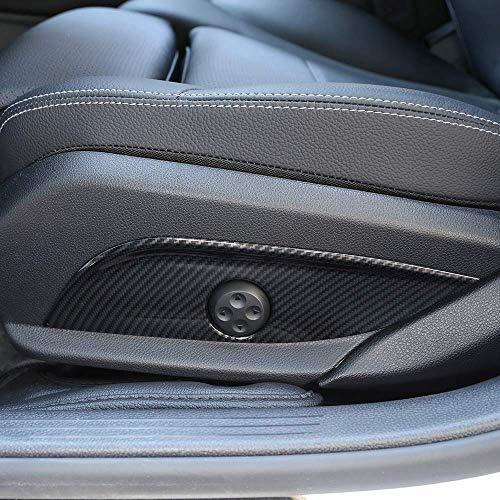 Accessoires de siège en Plastique ABS pour siège de Voiture Bouton de Cache du Panneau de Garniture Accessoires de Voiture pour GLC CLS Classe E C W205 W212 W213 en Fibre de Carbone