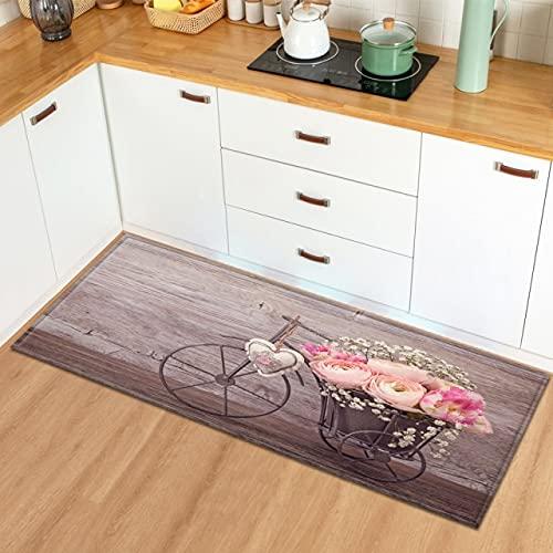 xuyuandass Nordic Kitchen Carpet Home Entrance Door Mat Corridor Bedroom Living Room Decoration Long Carpet Balcony Bathroom Non-Slip Floor Mat 40X60Cm D9147