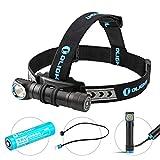 OLIGHT H2R CW LED Stirnlampe 2300 Lumen, aufladbare Kopflampe mit 153 m Leuchtweite, 4 Leuchtstufen, 180° Verstellbar, Perfekt fürs Laufen, Joggen, Angeln, Campen, für Kinder und mehr