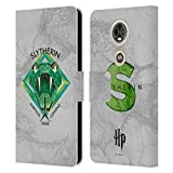 Head Case Designs Officiel Harry Potter Slytherin Deathly Hallows IV Coque en Cuir à Portefeuille...