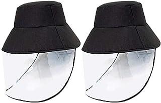 FEOYA Protecteur Visage Bouclier Femmes D/ét/é Solaire Visage Bouclier Cap Visi/ère Soleil Couverture Chapeau Anti-UV Visage Bouclier en Plastique R/églable Amovible