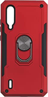 Iron Man Hard Back Cover With Metal Ring And Kickstand For Xiaomi Mi CC9 / Xiaomi Mi A3 Lite - Red