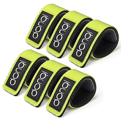 Fishing Rod Belts Ties Casting Spinning Rod Straps Holders Fishing Tackle Tie Bag Accessories (Green-6PCS)