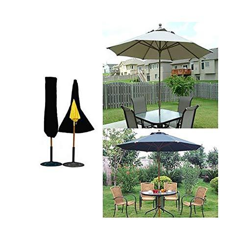 Patio Parasol Cover, Black Outdoor Paraplu Sun Protection Dust Cover, 210D Oxford doek, met rits, 202 × 95 × 50 cm / 79,5 × 37,4 × 19.6in