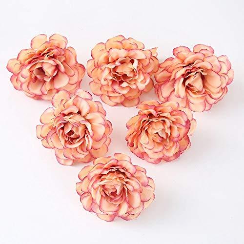 Bayue 10 stuks/set 5 cm kunstzijden pannen roze bloem knutselen kroon scrapbooking geschenk voor bruiloft decoratie kunstmatige bloemen Champagne
