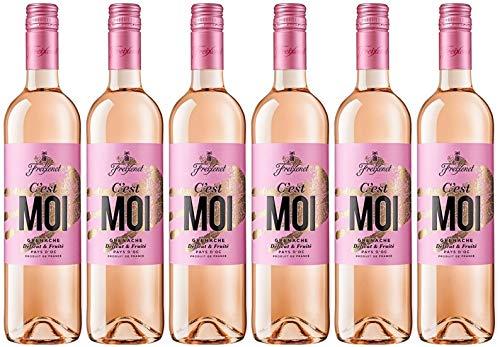 C'est MOI Wein Rosé 0,75 l (6 x 0,75l) l Cuvée l lieblich l blumig frisch l Noten von roten Früchten