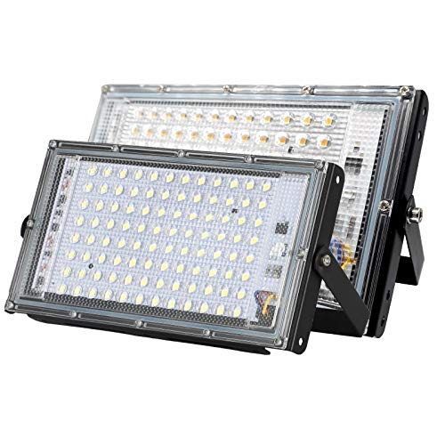 HOOK 100W Led Flood Light AC 220V 230V 240V Outdoor Floodlight Spotlight IP65 Waterproof LED Street Lamp Landscape Lighting (Cool White)