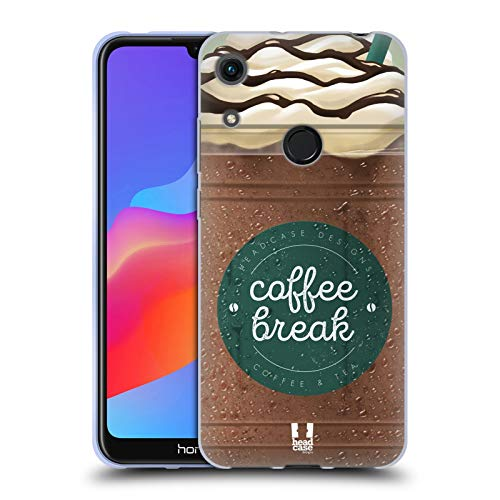 Head Case Designs Schokolade Kaffeetassen Soft Gel Huelle kompatibel mit Huawei Honor 8A