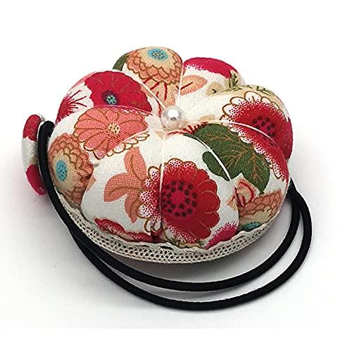 ANCLLO 2 piezas de calabaza multifuncional redondo muñeca Pin cojín máquina de coser aguja insertar DIY mano utilizado para punto de cruz (rojo)