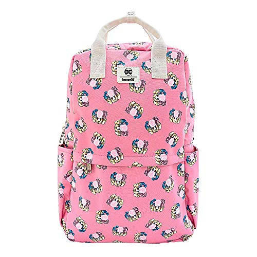 Harley Quinn Backpack Bubble Gum Logo All over print Nue offiziell Loungefly
