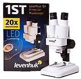 Microscopio Estereoscópico Levenhuk 1ST para Niños para Observar la Estructura de Piedras, Monedas y Otros Objetos