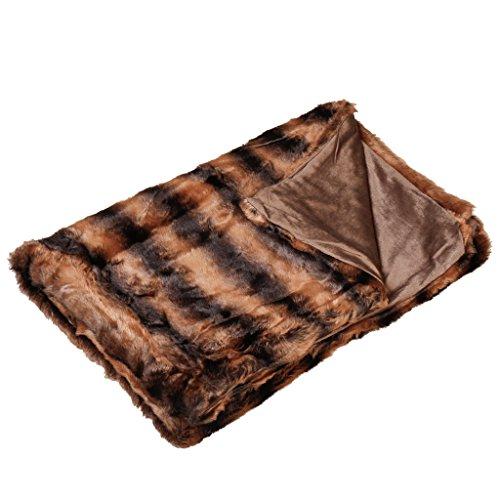 Luxe Super Doux Fausse laine d/'Alpaga Couverture Throw chaud Cosy Ivoire Gris Réversible