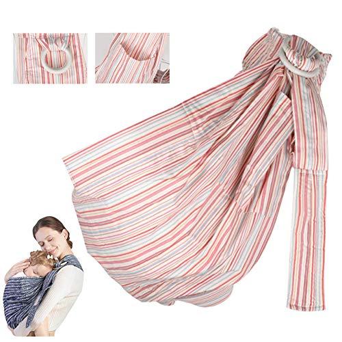 DFGHJKNN Baby Wrap Sling Organic Stretchy,Lightweight,Baby Sling Wrap Carrier Sling pour Les Nourrissons Précoces Et Nouveau-Nés Qui Allaitent,Rose