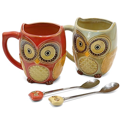 Ceramic Mug and Spoon For Two