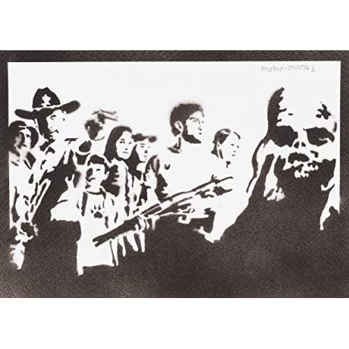 Poster The Walking Dead Handmade Graffiti Street Art - Artwork