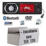 Autoradio Radio Caliber RDD773BT - Bluetooth | DVD/CD | MP3 | USB | SD | TFT - Einbauzubehör - Einbauset für BMW 3er E30 - JUST SOUND best choice for caraudio