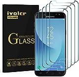 ivoler [4 Unidades] Protector de Pantalla Compatible con Samsung Galaxy J5 2017, Cristal Vidrio Templado Premium [Dureza 9H] [Anti-Arañazos] [Sin Burbujas]