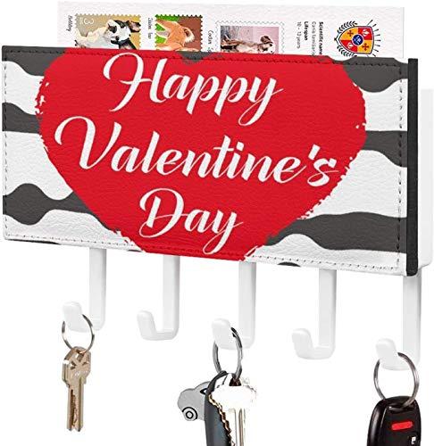 Gancho para llaves montado en la pared, clasificador de correo, organizador para llaves de correo de montaje en pared, flecha rosada del amor, decoración del hogar para el día de San Valentín, para l