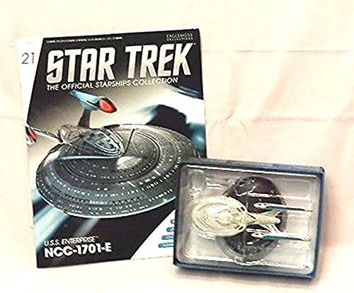 21 Star Trek USS ENTERPRISE E Die-Cast Metal Ship-UK Eaglemoss w Mag by Eaglemoss by Eaglemoss