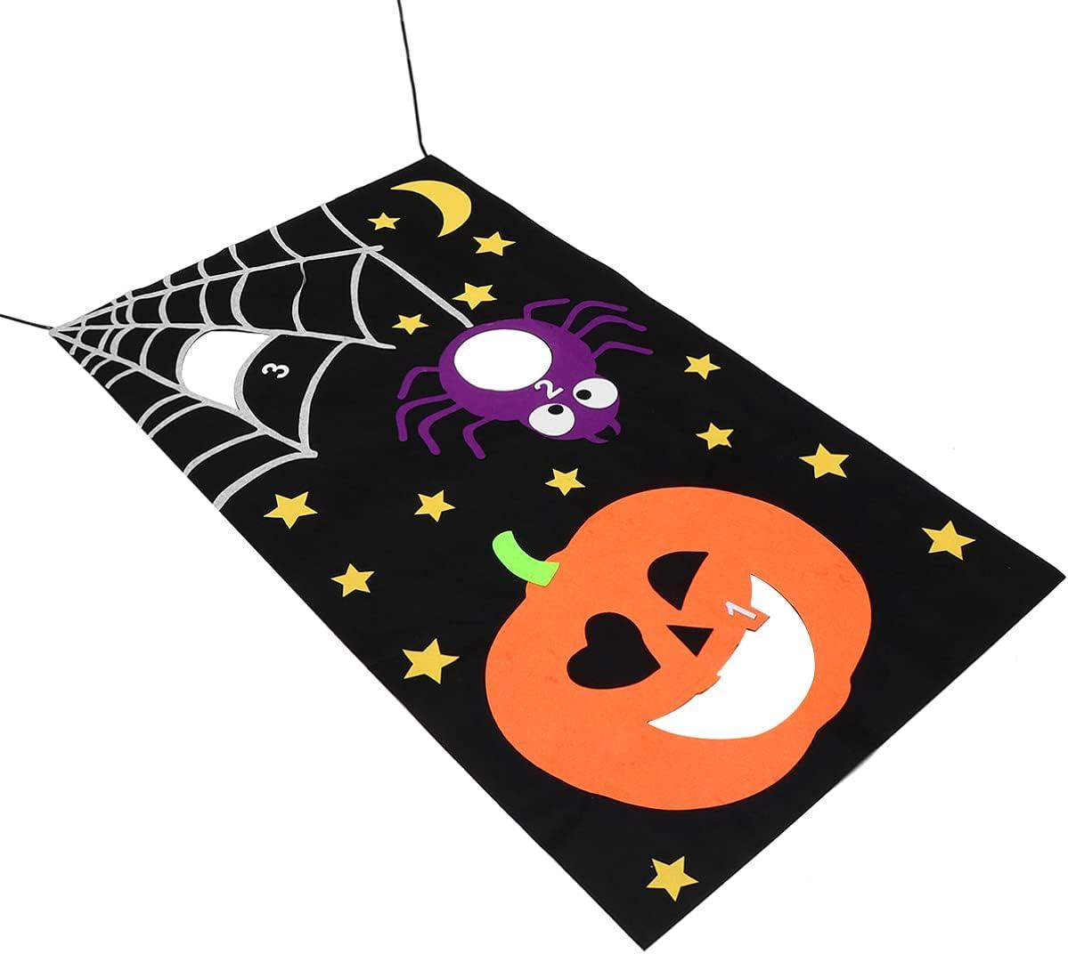 EXCEART Toss Super intense SALE Banner Bean Bag Theme 5 ☆ popular Game Bann Halloween 1Pcs