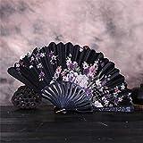 iSmile Estilo De Verano Baile Banquete De Boda Encaje Seda Plegable Abanico De Flores De Mano Regalo Colorido5Pz, Abanico De Mano, China