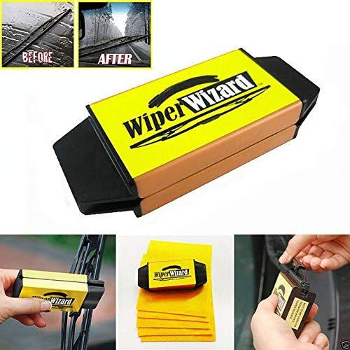 Preisvergleich Produktbild Hallenwerk Wiper Wizard Scheibenwischer Reinigung Wischergummi Wischerlippe Nachschneider Nachbesserungswerkzeug für beschädigte Gummischicht