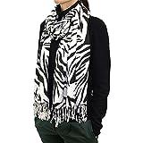 72' Leopard & Zebra Print Scarf (Zebra)
