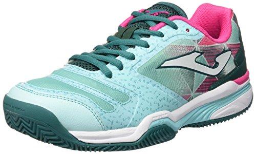 Joma T.Slam Lady 615 Turquesa Clay Zapatillas de Tenis, Mujer, 40