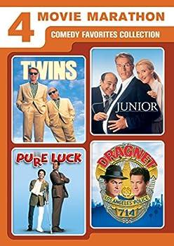 4-Movie Marathon  Comedy Favorites Collection  Twins / Junior / Pure Luck / Dragnet