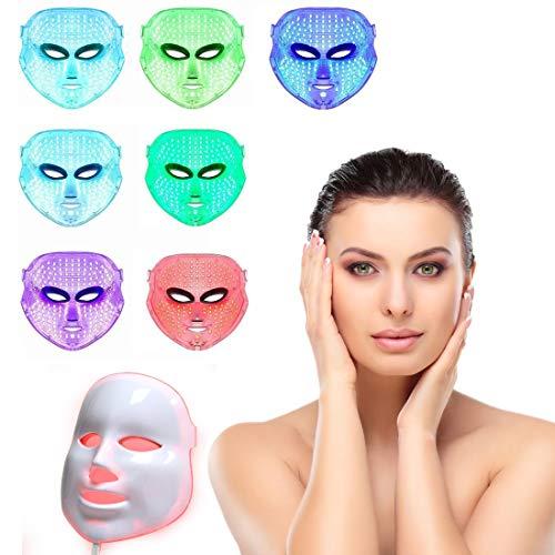 7 Kleur LED Masker Licht Therapie Licht Gezicht Behandeling Verjonging acne Vlek Rimpels Gezicht Bleken Dagelijkse Huidverzorging Masker