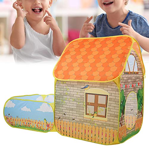 Puede Dormir en él Cómodo y Suave Mejorar la Conciencia Espacial Casa de campaña de Juego, Material de Tela Tienda de campaña para niños, Espacio Privado para niños Niñas(House Ball Pool)