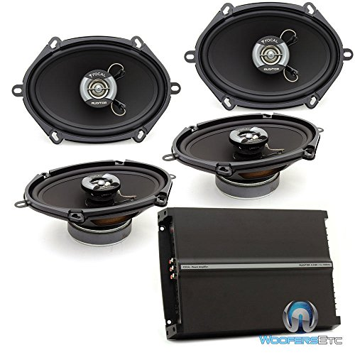 pkg 2 Sets Focal Auditor RIP-570C 5x7 50W RMS 2-Way Coaxial Speakers + Focal R-4280 4-Channel 560 Watts Max Amplifier