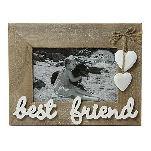 Mejores amigos de pie marco de madera granja de fotos