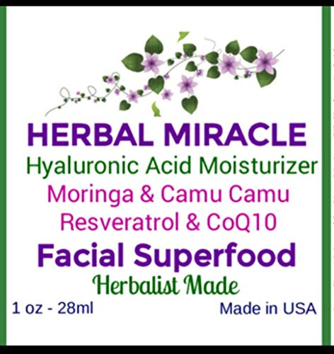 HERBAL MIRACLE Hyaluronic Acid Deep Moisturizer Serum | Brighter Tighter Firmer Skin | Cell Renewing Lotion | Wrinkle Free | VEGAN | 1oz