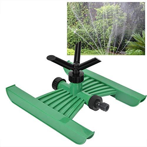 Aspersor de jardín para Exteriores, aspersores para césped de 3 boquillas, Sistema de aspersores de Agua, Base en Forma de H, aspersor portátil Giratorio, aspersores automáticos para exterio