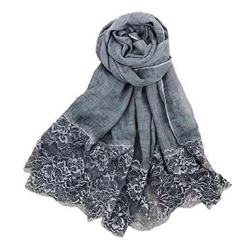 Ruikey Pañuelos Cuello Mujer Bufanda de Lino del Algodón del Color Sólido Mantón Bufanda Para Fiestas, Playa,Uso diario