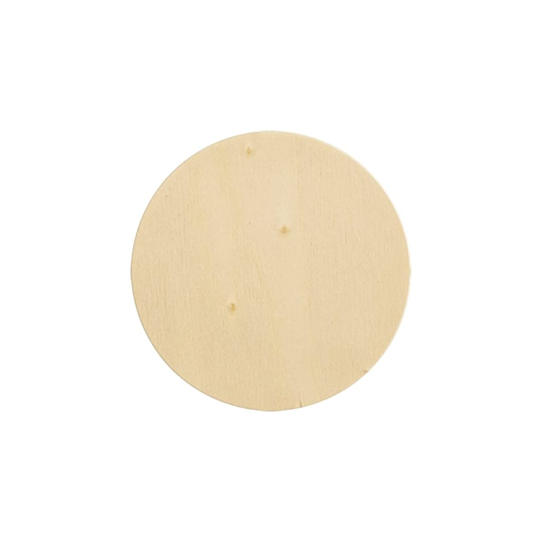 Natural Unfinished Round Wood Circle Cutout 5 Inch - Bag of 10